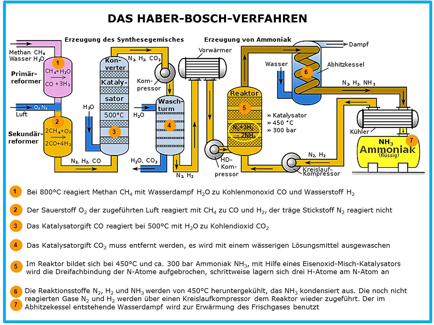 Haber Bosch Ammoniaksynthese
